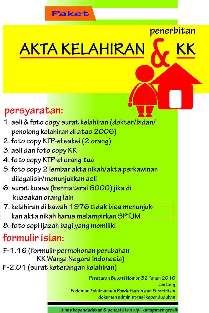 Paket Akta Lahir dan Kartu Keluarga
