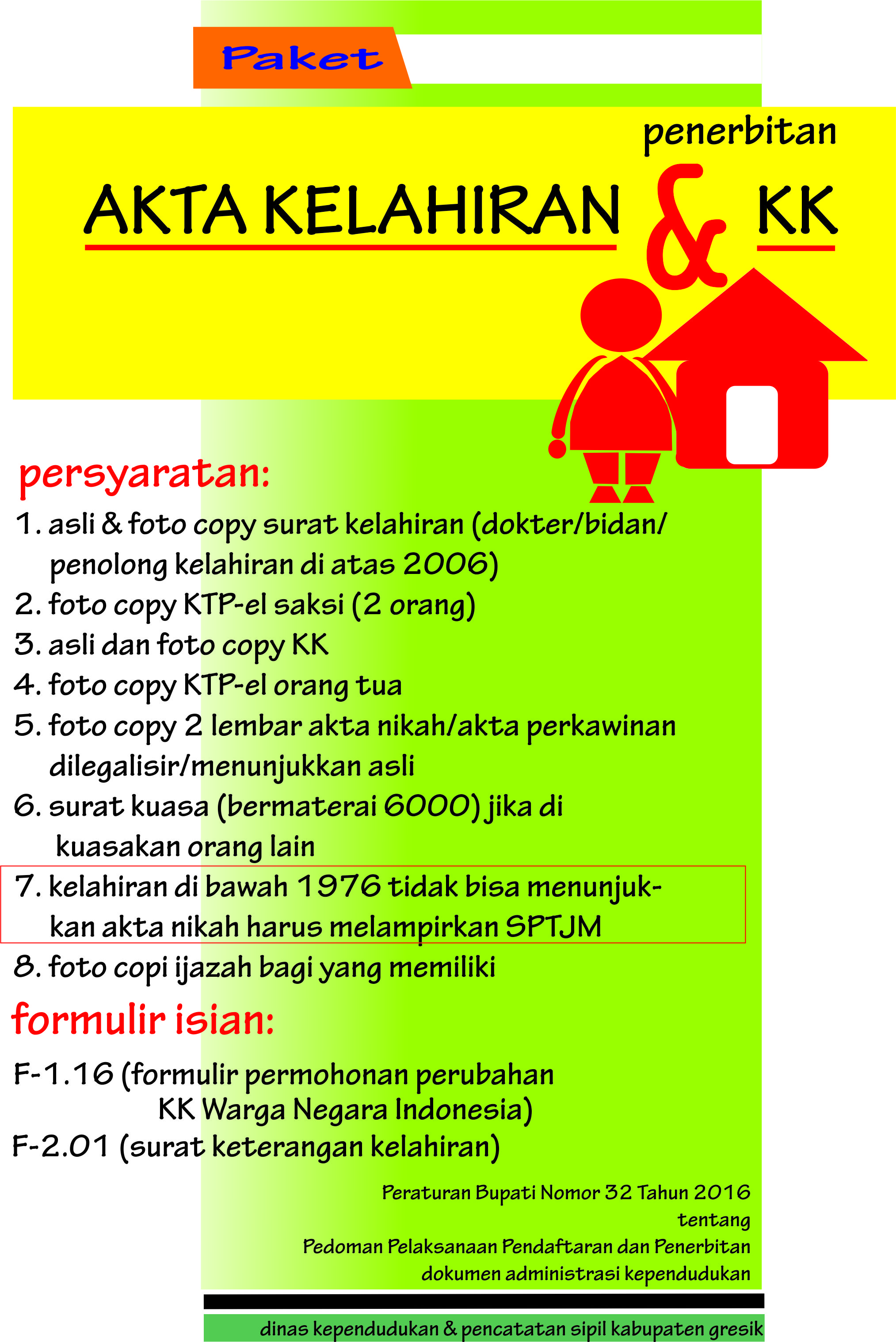 Paket Akte Kelahiran dan Kartu Keluarga